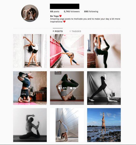 yoga Instagram profile