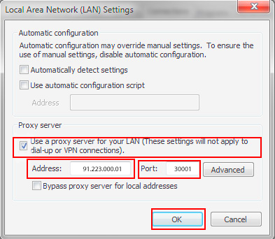 Setting up a proxy server in Google Chrome