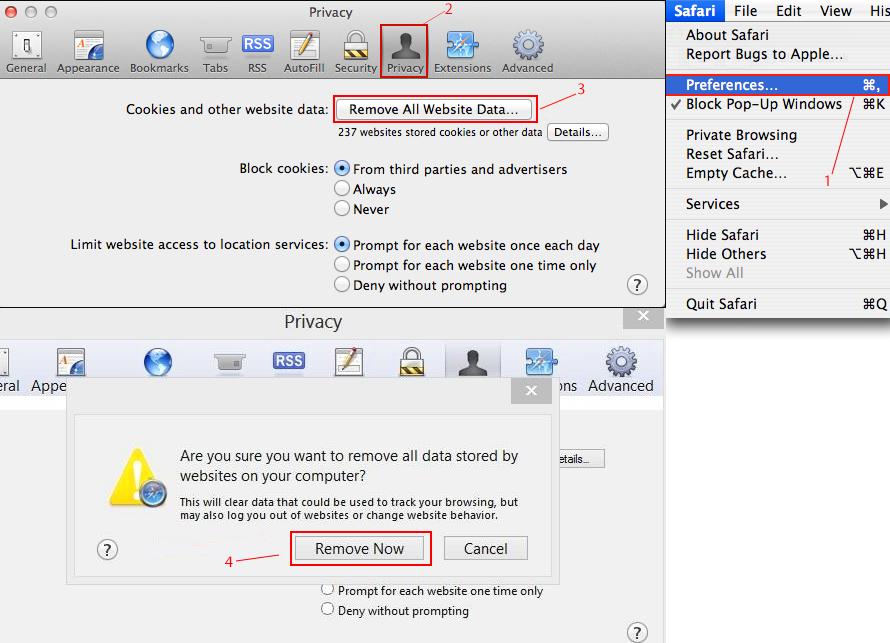 Setting up a proxy server in Safari